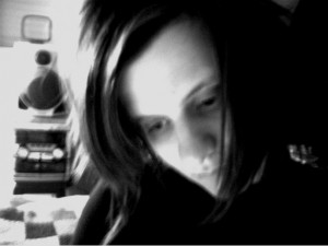 Adriana Mignini (black and white)